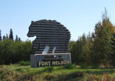 Fort Nelson Welcome Sign